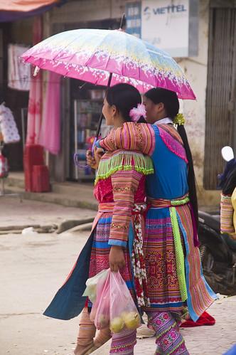 Bac Ha girls, N. Vietnam