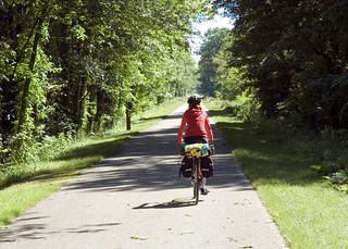 Bike path to Oberlin