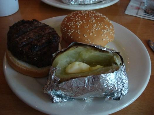 Hamburger and Potato, Port of Call, New Orleans LA