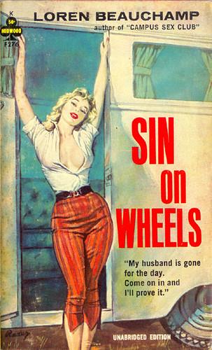 sin on wheels loren beauchamp vintage sleaze cover