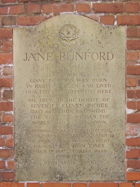 Bartley Green Jane Bunford Memorial This Is On The