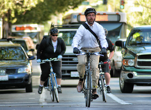 San Jose bike commuters