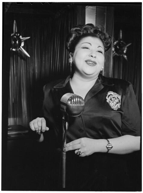 [Portrait of Sylvia Syms, Little Casino(?), New York, N.Y., ca. June 1947] (LOC)