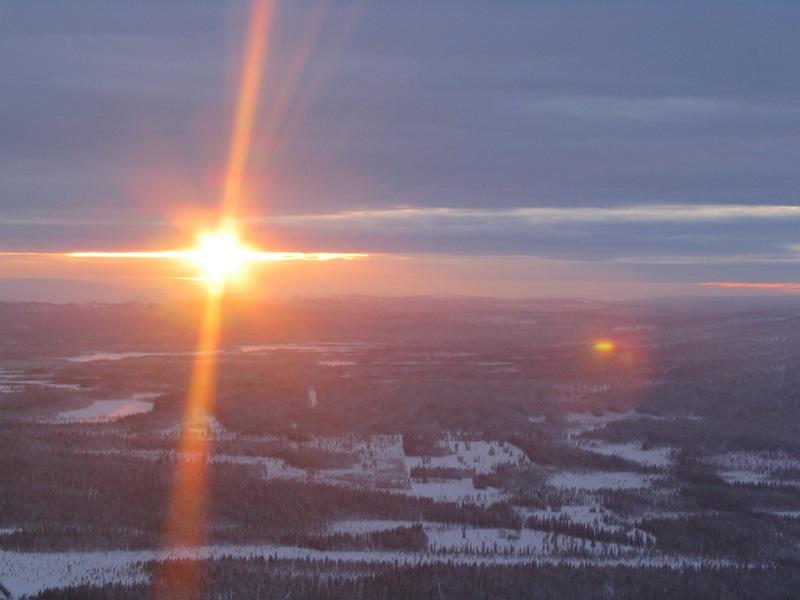 Lapland sunset