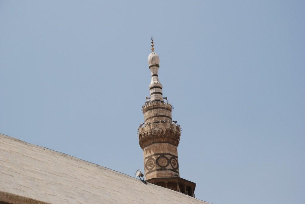 Siria minarete Mezquita de los Omeyas Damasco  30