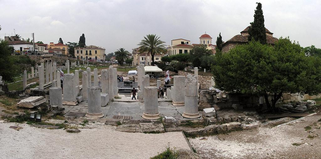 Grecia Atenas panoramica Agora romana 04