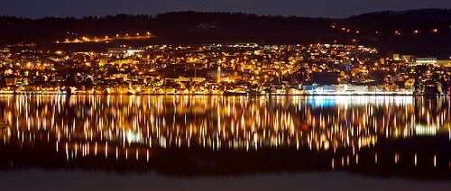 At Lake Zurich by Night