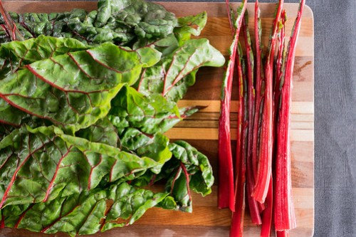 bright red swiss chard