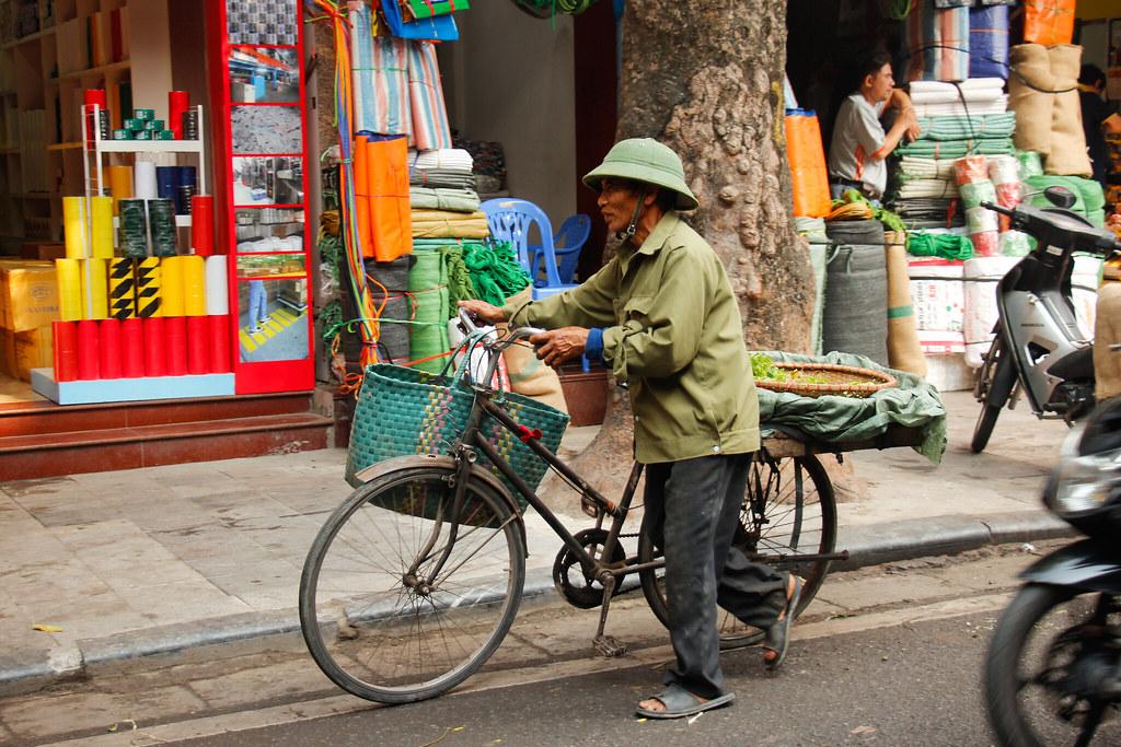 the old quarter i Hanoi