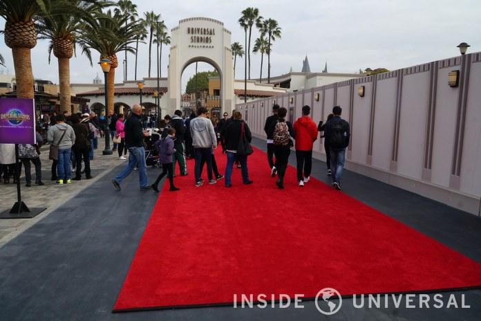 Photo Update: January 18, 2016 – Universal Studios Hollywood - Entrance Plaza Refurbishment