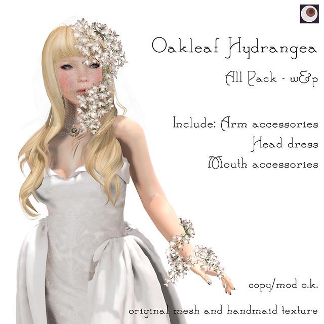 *NAMINOKE*Oaklear Hydrangea - White & Pink