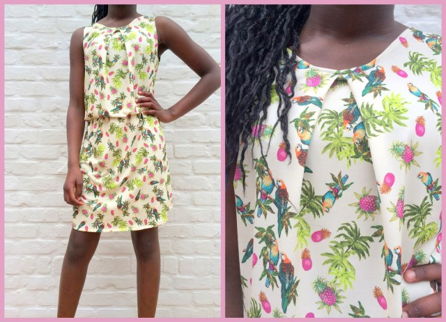Pretty Paris dress (collage)