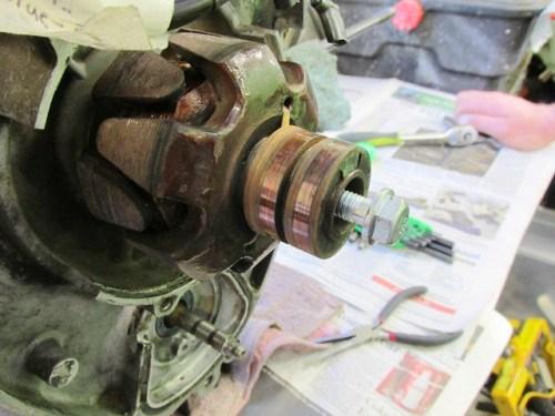 Cycle Works Hardened Bolt Threaded Into Crankshaft Nose
