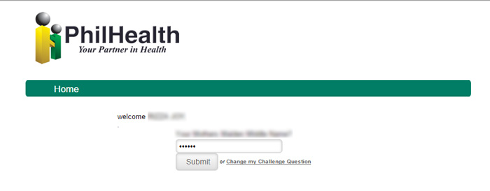Philhealth member data record - security question