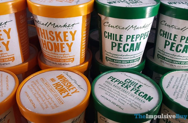 H-E-B Central Market Whiskey Honey and Chile Pepper Pecan Small Batch Ice Cream
