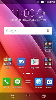 Home screen ของ ASUS LIVE