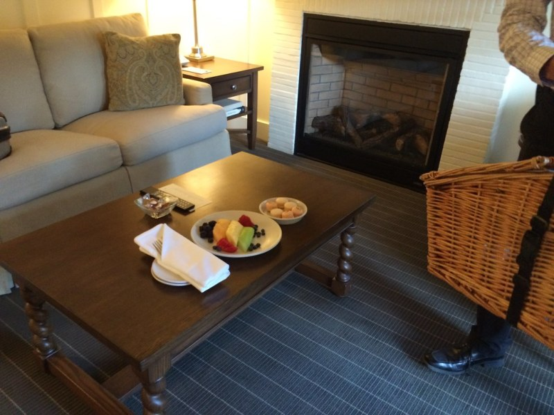 I didn't know how much joy a picnic basket could bring until one arrived at the room at Meadowood.