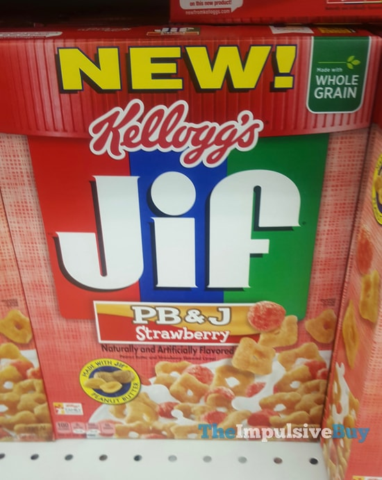 Kellogg's PB&J Strawberry Jif Cereal