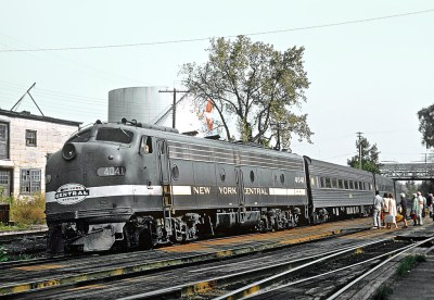 Two New York Central E8As at Hudson, NY