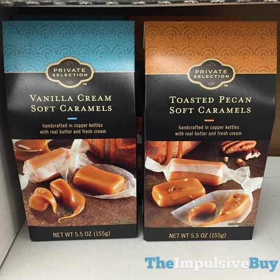 Kroger Private Selection Vanilla Cream and Toasted Pecan Soft Caramels