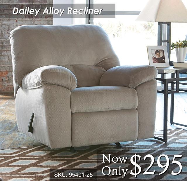 Dailey Alloy Recliner