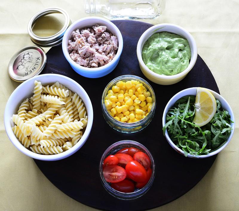 Fusilli and Tuna Salad with Creamy Avocado Dressing
