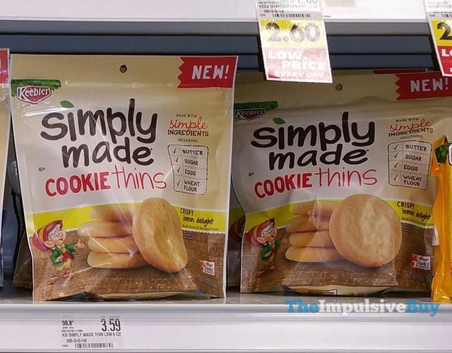 Keebler SImply Made Crispy Lemon Delight Cookie Thins
