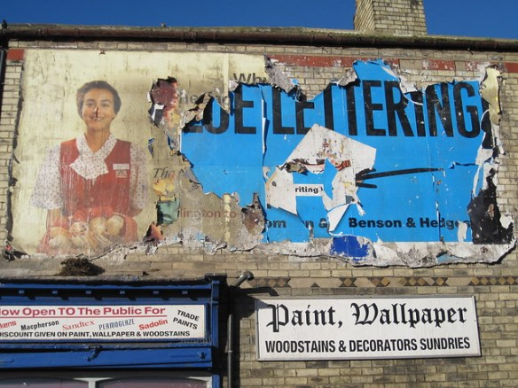 Redcar Old Poster, Ghostsign