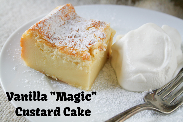 Vanilla Magic Custard Cake on www.inthiskitchen.com