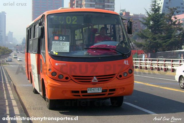 Transantiago (C02) - Redbus - Neobus Thunder / Agrale (VX4187) (Archivo)