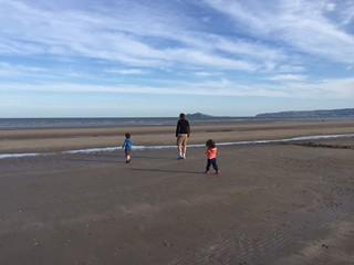 The wide Portmarnock beach, Dublin