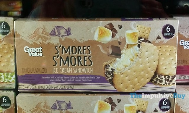 Great Value S'mores S'mores Ice Cream Sandwich