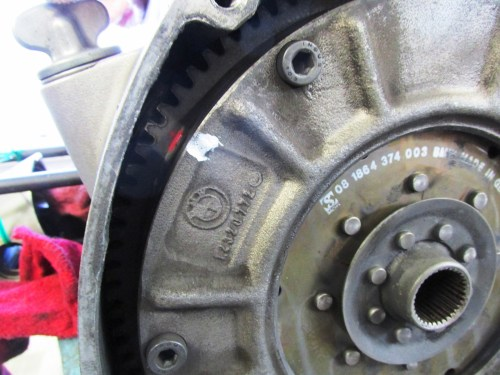 Clutch Compression Ring Alignment Mark with OT (Red) Mark on Flywheel