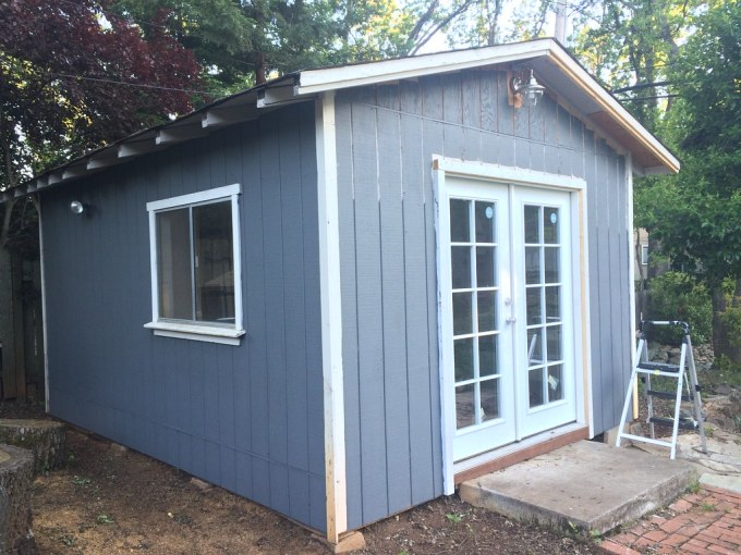 Shed painting in progress
