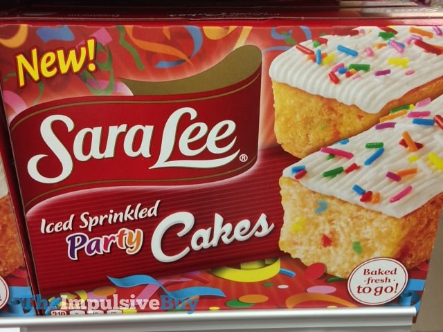 Sara Lee Iced Sprinkled Party Cakes
