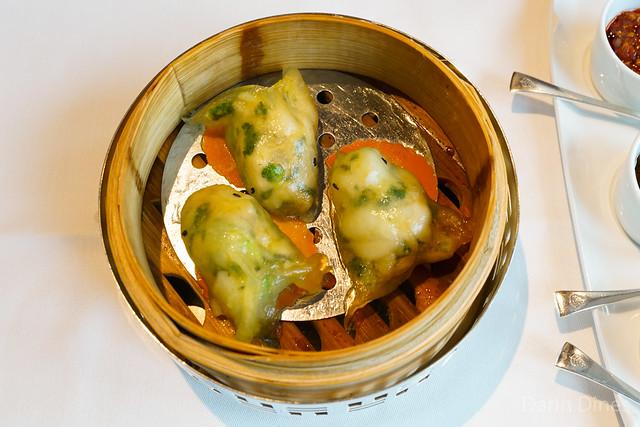 Steamed Sea Bass Dumplings with Shrimp Roe