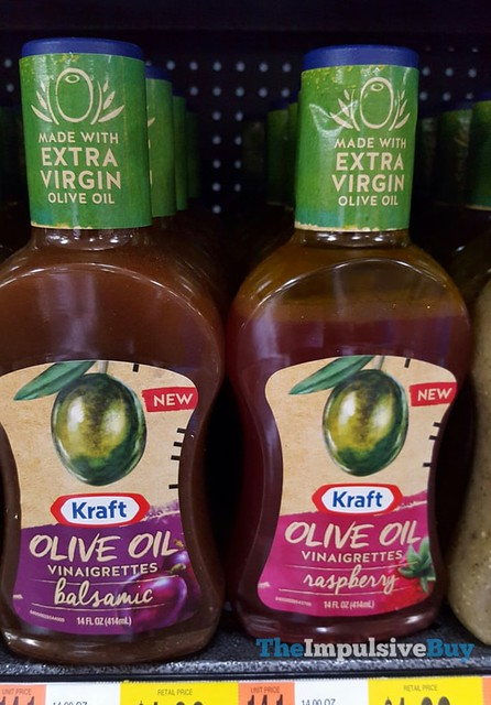Kraft Olive Oil Vinaigrettes (Balsamic and Raspberry)