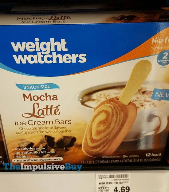 Weight Watchers Snack Size Mocha Latte Ice Cream Bars