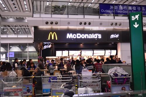 香港国際空港のマックは大行列
