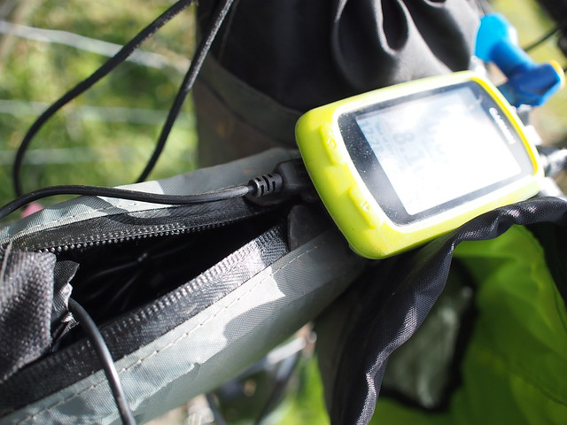 Garmin on charge from B & M e-werk