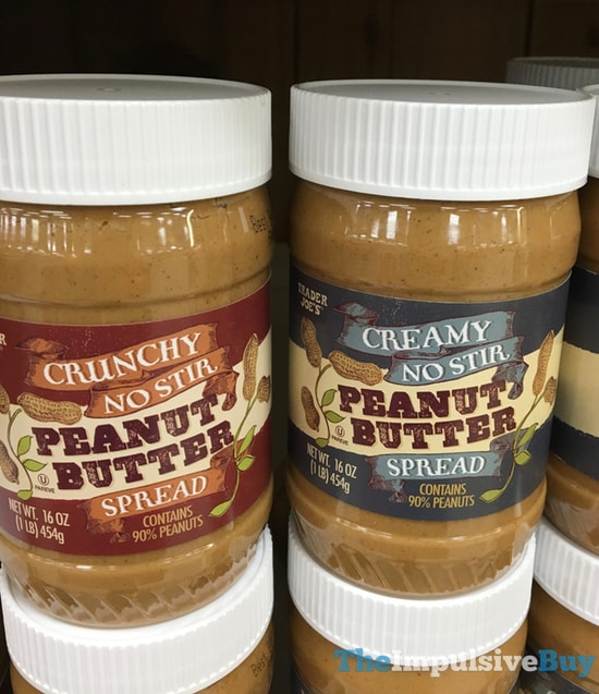 Trader Joe's Crunchy and Creamy No Stir Peanut Butter Spread