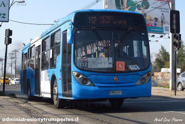 Transantiago (112) - Alsacia - Marcopolo Gran Viale / Volvo (ZN4121)