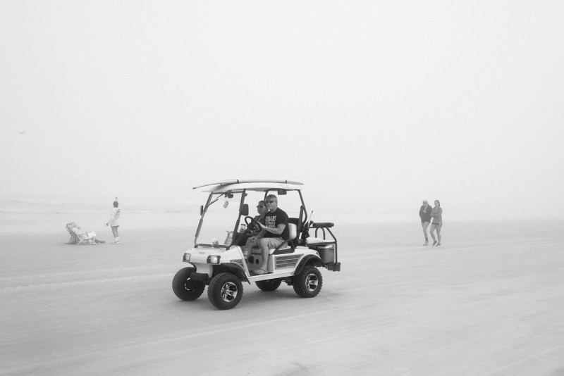 Beach, Fog, and Dune Buggies
