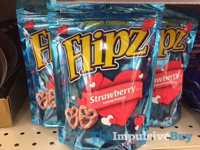 Limited Edition Flipz Strawberry Covered Pretzels