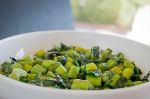 asparagus, basil, and mint