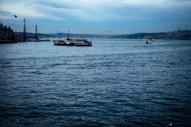 Istanbul: de Bosporus vanaf de Galatabrug