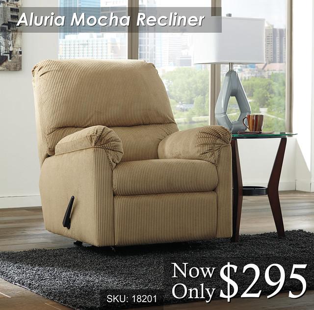Aluria Mocha Recliner