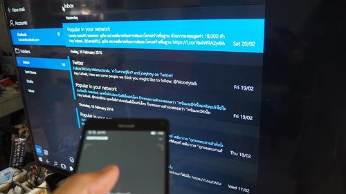 Windows Continuum ใช้ Lumia 950XL เป็น Touchpad
