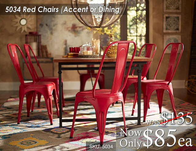 5034 Red Chairs Accent or Dining