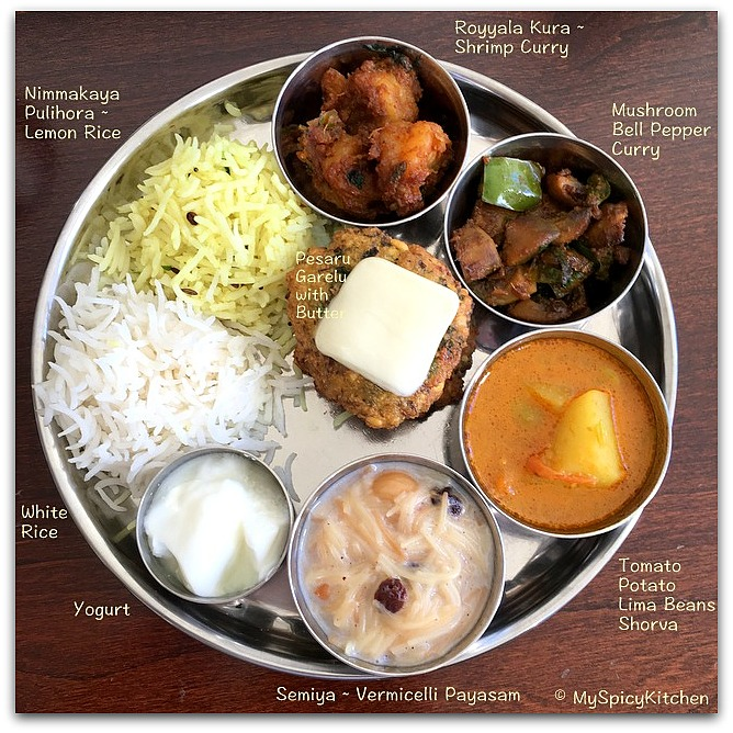 Telugu Thali, Thali from the Telangana State, Indian Food, South Indian Food, Indian Food, Indian Cuisine, South Indian Cuisine, Telugu Cuisine, Telugu Food